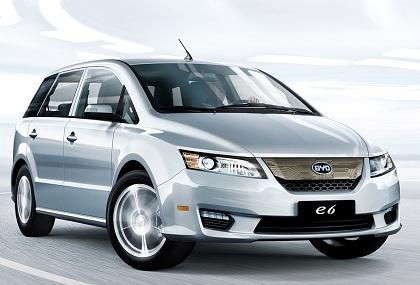 电动汽车排名及价格:比亚迪e6