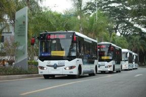 """""""阿尔法巴""""智能自动驾驶公交正式路试"""