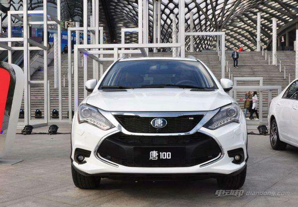 比亚迪油电混合动力SUV唐100车型介绍——外观及内饰