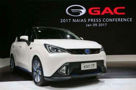 广汽纯电动汽车报价,广汽传祺GE3纯电动SUV补贴后15.02-17.32万元