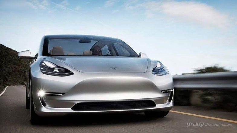 中型纯电动汽车介绍:特斯拉Model 3外观