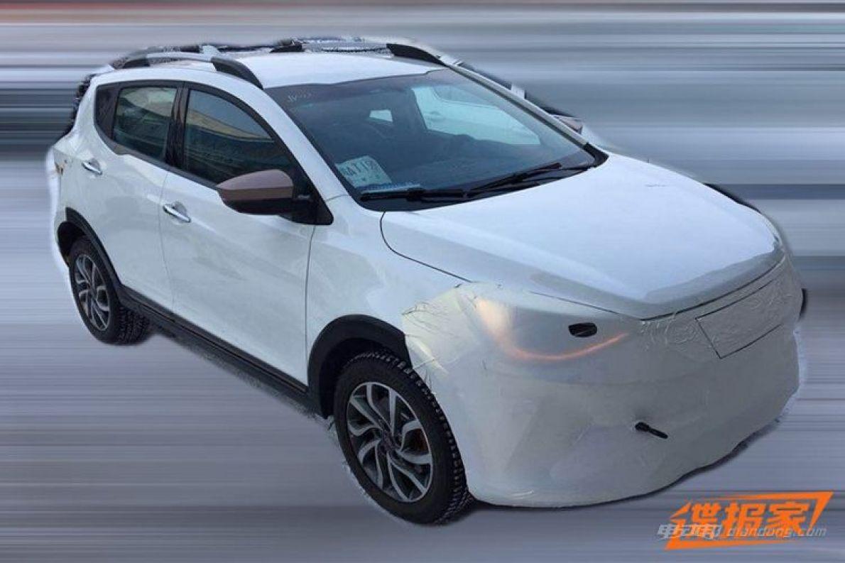 基于iEV7S 疑似江淮大众首款车型专利图