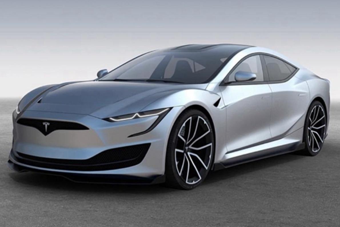 特斯拉新Model S假想图曝出,中控大屏采用曲面屏