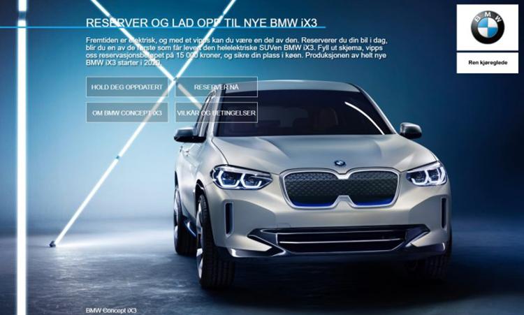 提前两年交订金 挪威可预订宝马iX3-汽车氪