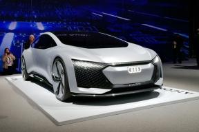 奥迪纯电动自动驾驶概念车Aicon亮相,最大续航800公里