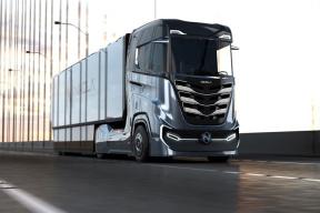 第一眼看成诺基亚的这家公司Nikola发布第三代氢燃料半挂卡车