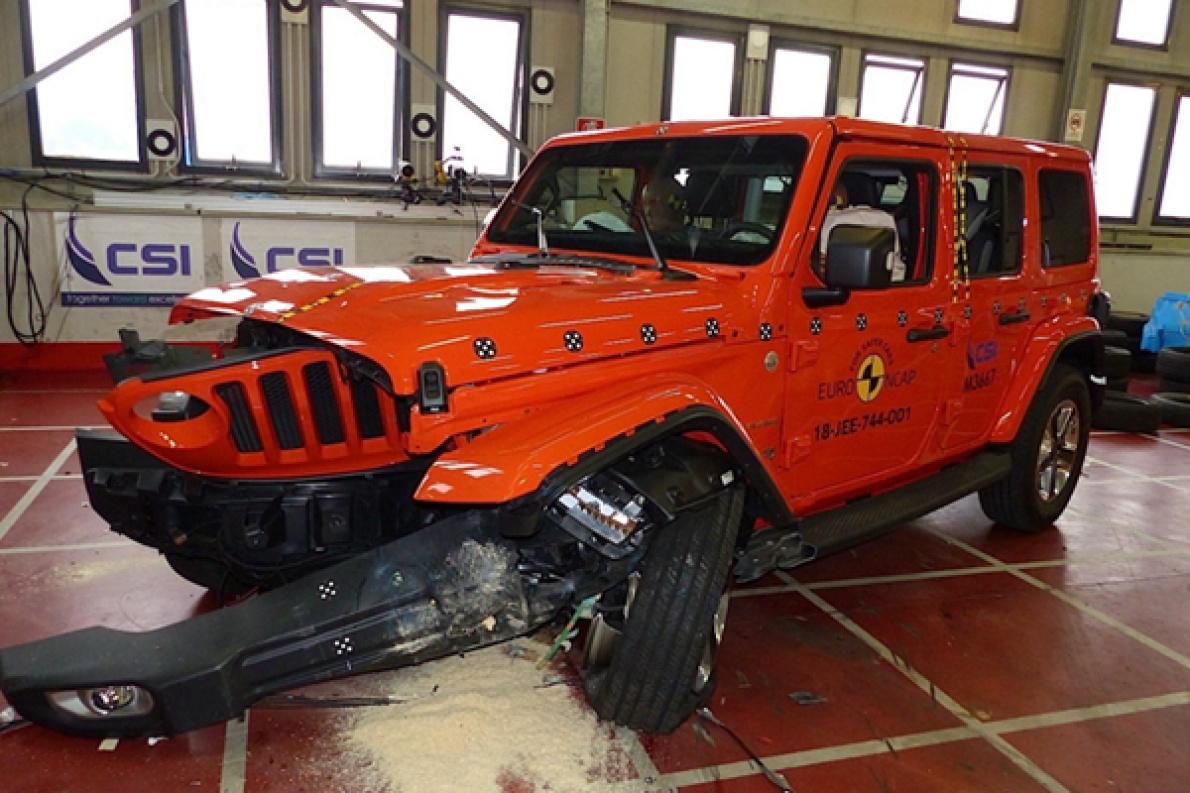 全新Jeep牧马人的碰撞成绩出炉,评测机构秘书长看了直摇头