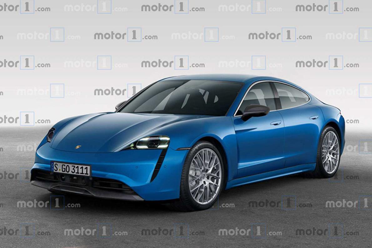 未来还将推出旅行版车型 保时捷纯电跑车Taycan渲染图曝光