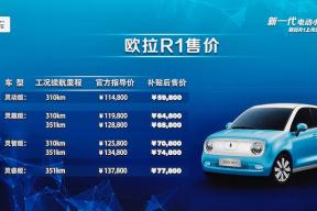 正向研发,续航351公里,售价5.98万元起,欧拉R1正式上市