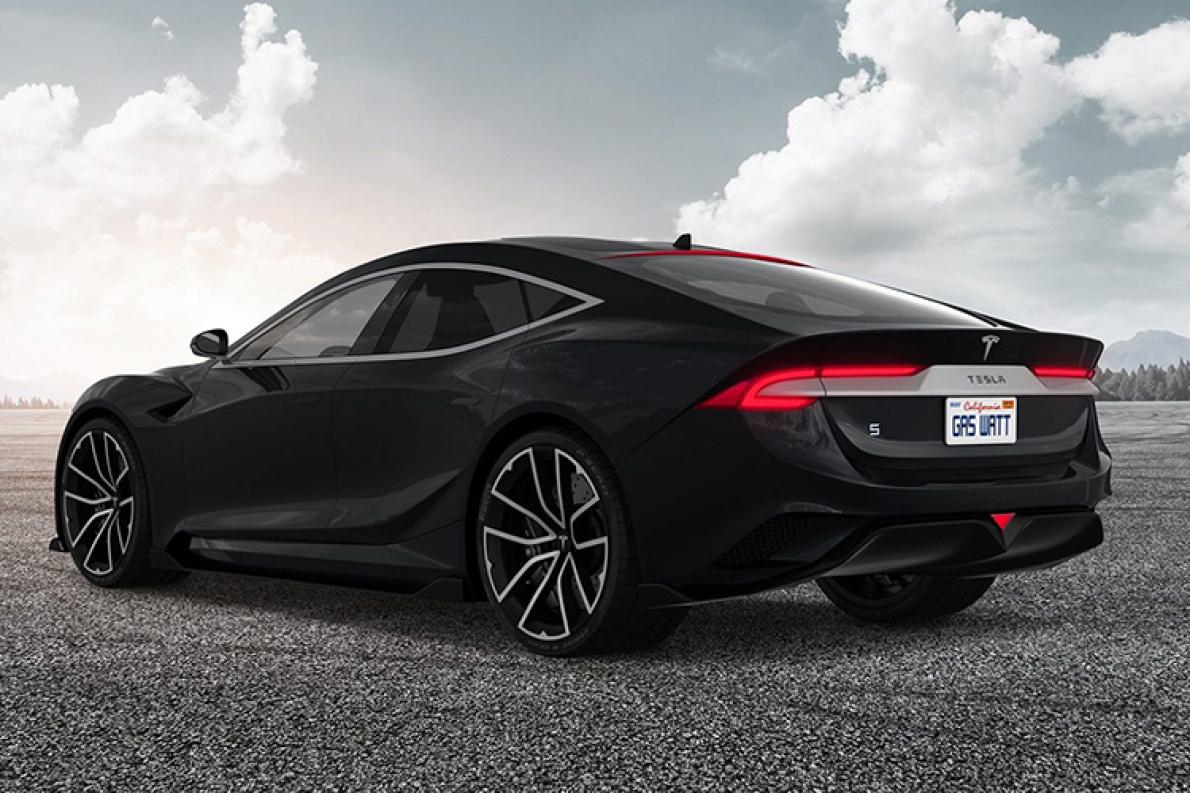 疑似特斯拉Model S换代车型或四门版Roadster渲染图曝光