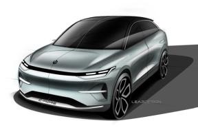 定位跨界SUV,4月份上海车展亮相,零跑全新概念车设计草图曝光