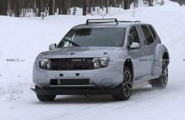 电动冰雪拉力赛赛前准备 Dacia Duster EV车型谍照