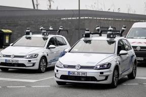 大众:首次真实路况下测试自动驾驶汽车