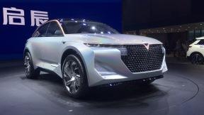 启辰 D60EV、T60EV 和 e30 和概念车The V亮相上海车展