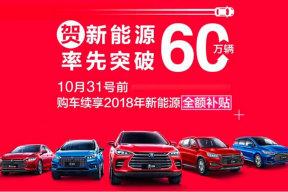 比亚迪:10月31日前购车享受2018年新能源全额补贴