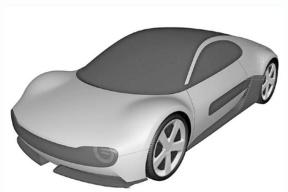 整体复古造型,或将明年推出,本田全新纯电动跑车专利图曝光