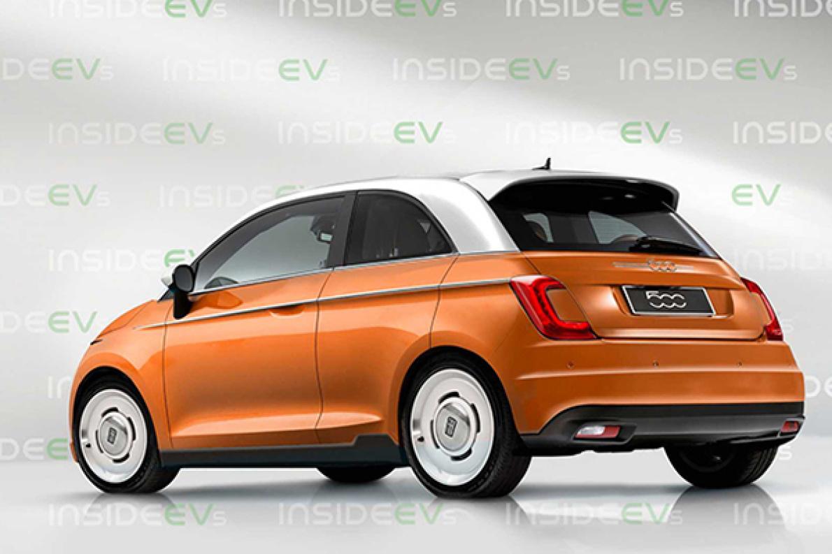 全新菲亚特 500e 的假想图发布,保留燃油版外观,或于 2020 年发布