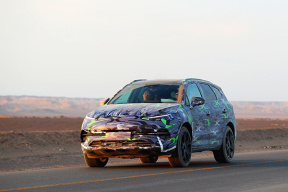 与概念车造型保持高度一致  腾势全新量产车测试谍照曝光