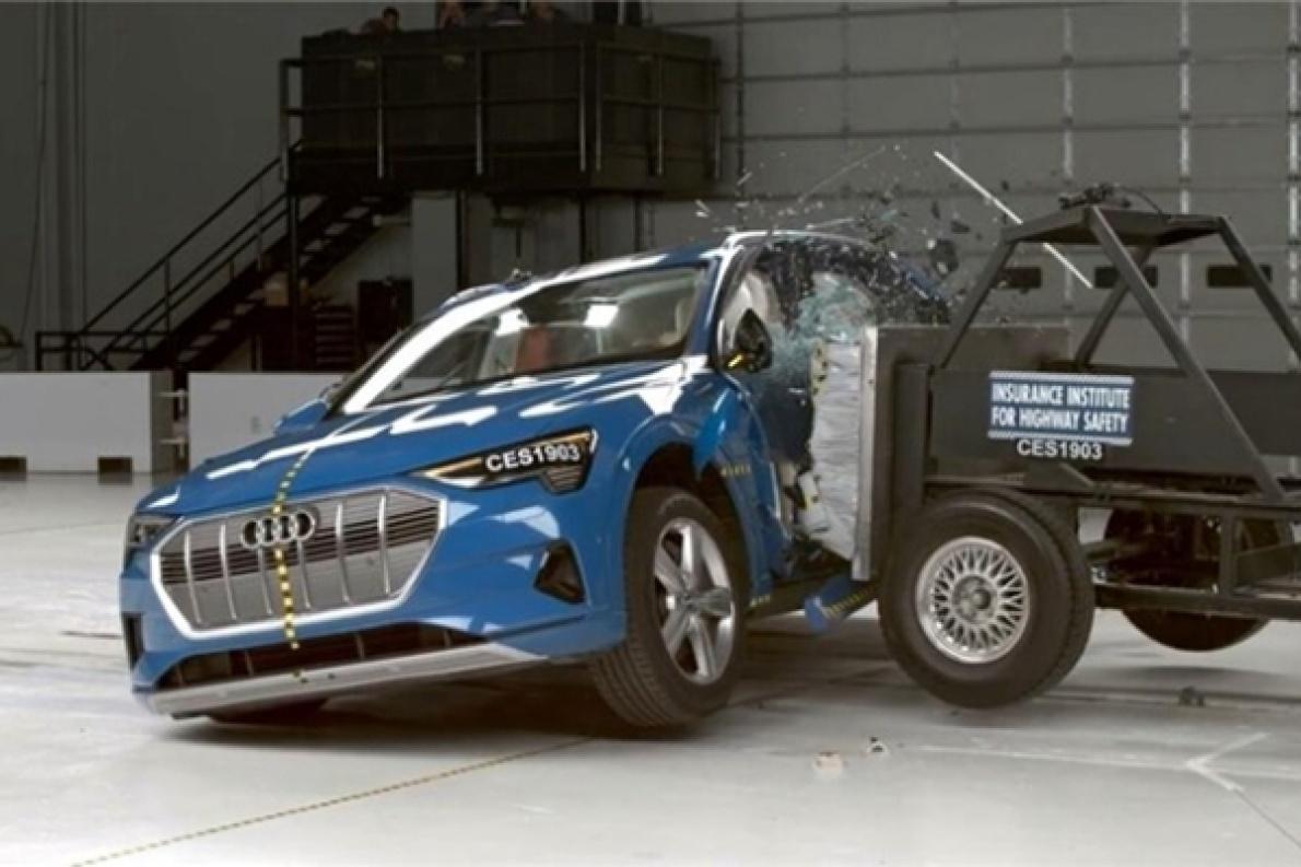 奥迪e-tron 获 2019 年 IIHS 最高安全评级的电动车,特斯拉表示不服