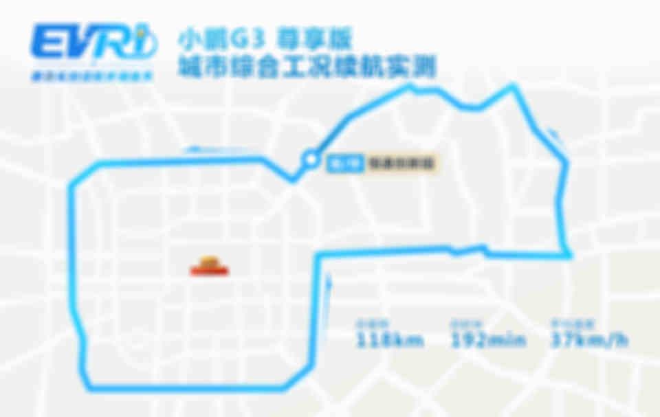 城市工況續航地圖