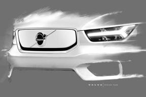 据说是沃尔沃最安全的车之一,XC40纯电版预告图发布,10月16日正式亮相