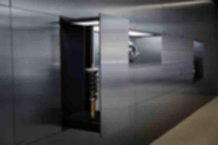 极星艺术空间金属抽屉展示墙