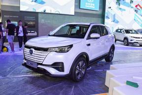 NEDC 工况续航里程达 605 km,定位紧凑型SUV,长安E-Rock 亮相广州车展