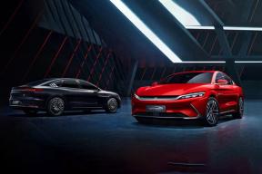 比亚迪汉EV 全貌曝光,就冲这颜值还要啥 Model 3