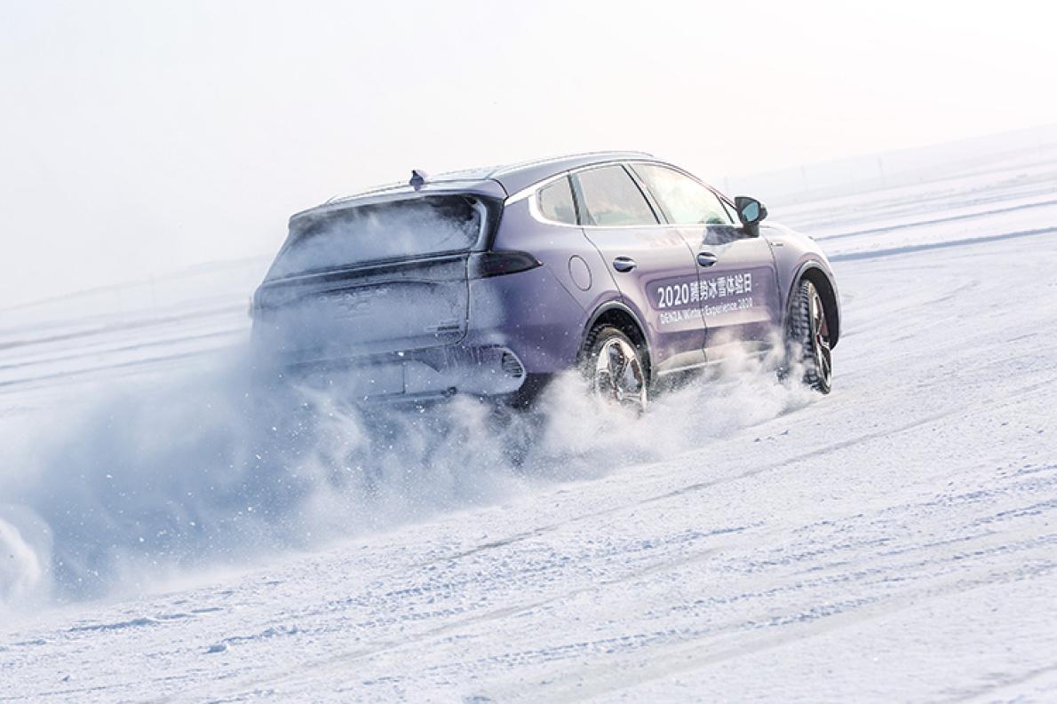與眾奔馳同臺競技,不輸分毫,冰雪試駕騰勢X PHEV
