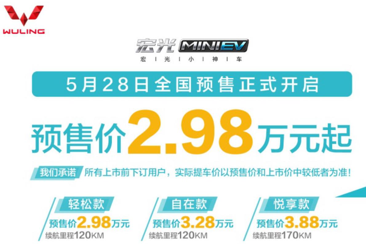 """2.98万起!宏光MINI EV""""代步小神车""""开启预售"""