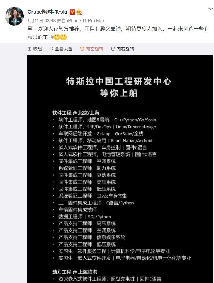 """特斯拉中国招聘设计总监 """"特供""""版车型要来了?"""