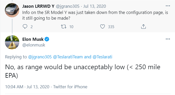 Musk 低续航不能忍受