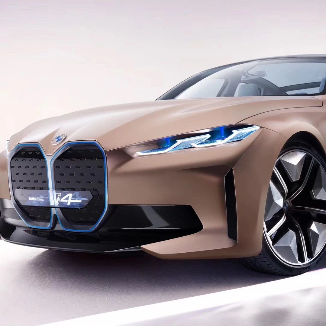 续航600km!纯电动BMW i4概念车首秀
