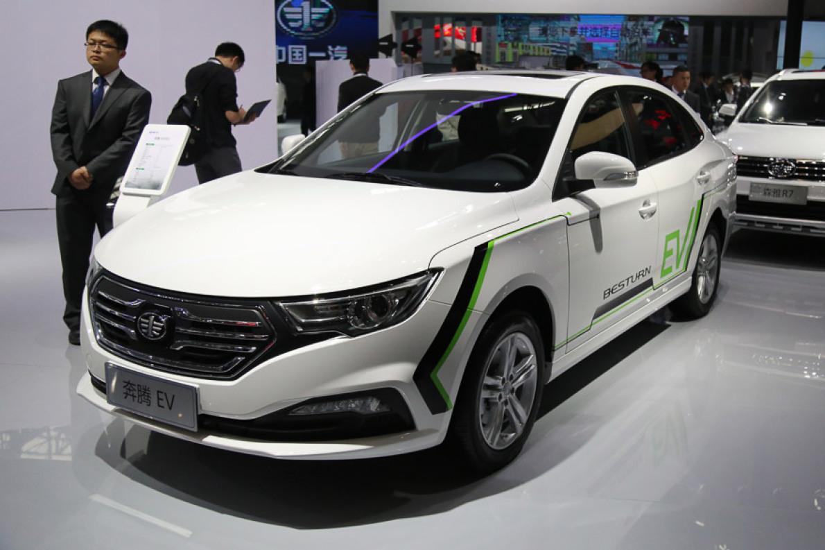 2016北京车展:一汽奔腾B30EV实拍解析