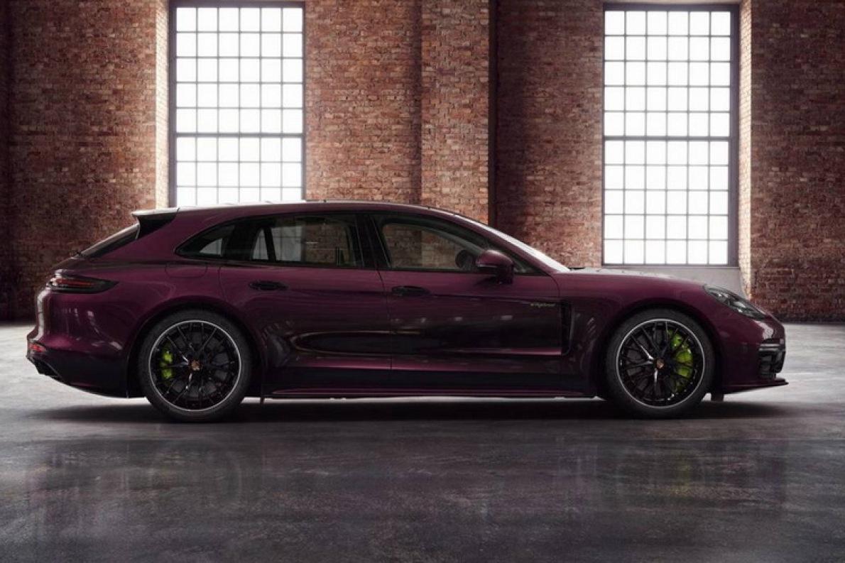 还可以个性化定制 Panamera Turbo S E-Hybrid推紫水晶版