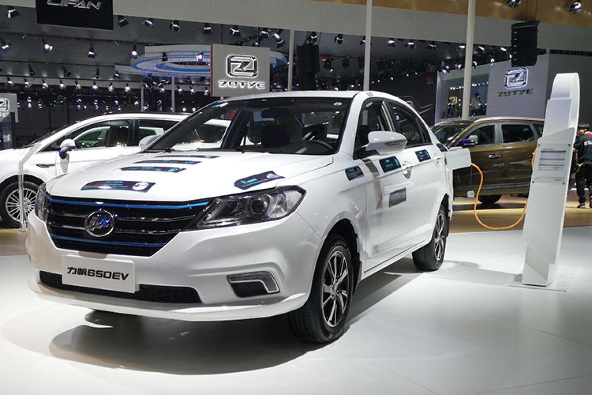 微型车价格的紧凑型车—力帆650EV,再次亮相广州车展