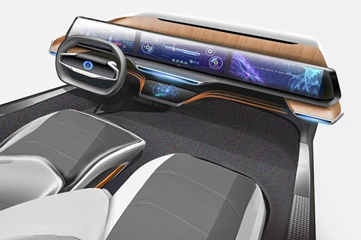 阿里AliOS智能驾驶舱渲染图首次公开 屏幕超级大