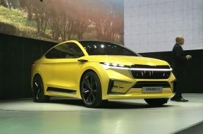 推概念车VISION iV 至2022年推出10款电动车 斯柯达揭开新能源规划